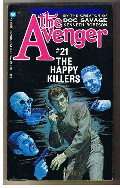 AVENGER 21, HAPPY KILLERS pb, FN-, Ken Robeson, 1974, Unread, more in store