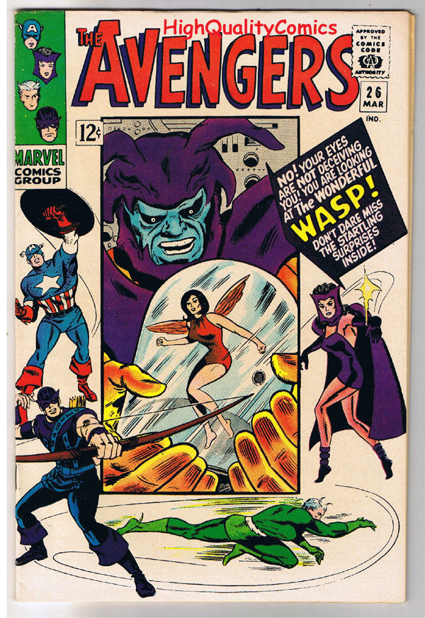 AVENGERS #26, VF+, Captain America, Wasp, Witch, Heck, 1963, more in store