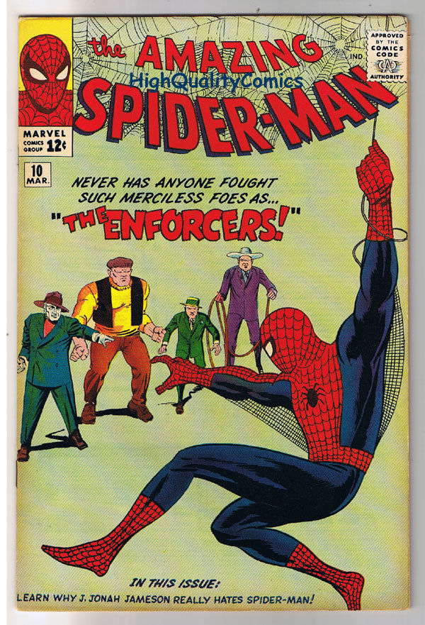AMAZING SPIDER-MAN 10, VF+, Steve Ditko,1st Big Man, 1963, more ASM in store