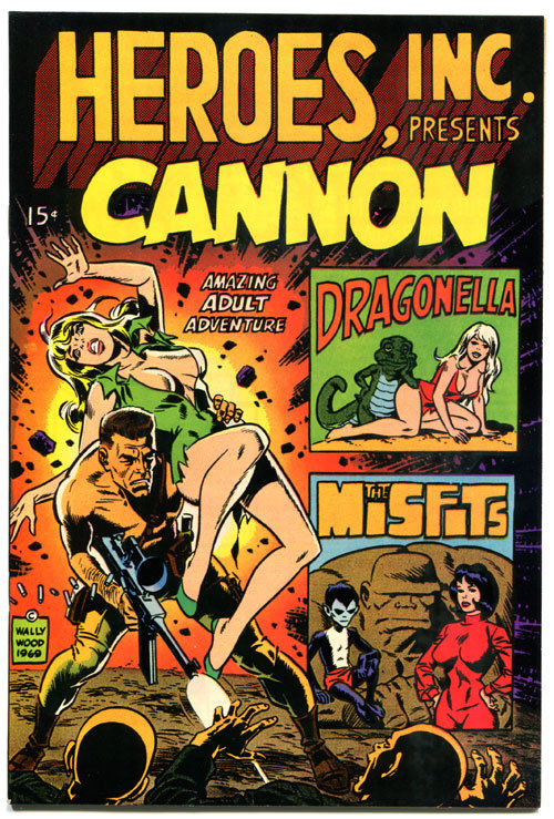 WALLY WOOD, NM+, Good Girl, Cannon, Dragonella, 1969, more WW in store