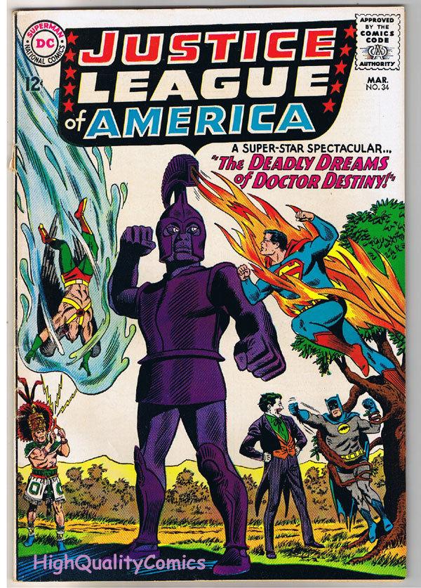 JUSTICE LEAGUE of AMERICA #34, FN, Wonder Woman, Atom, 1960, more in store