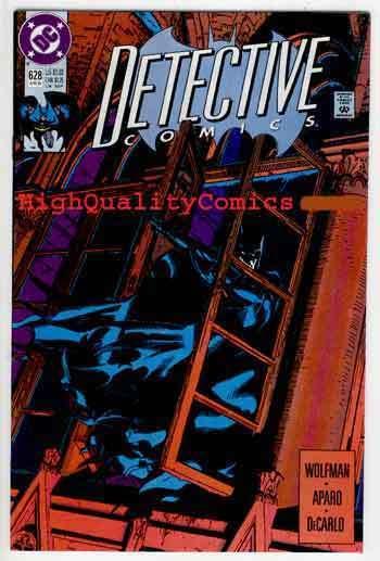 DETECTIVE #628, NM+, Batman, 1991, Wolfman, Aparo, DeCarlo, more DC in store