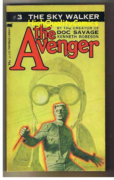 AVENGER 3, THE SKY WALKER pb, FN-, Ken Robeson, 1972, Unread, more in store