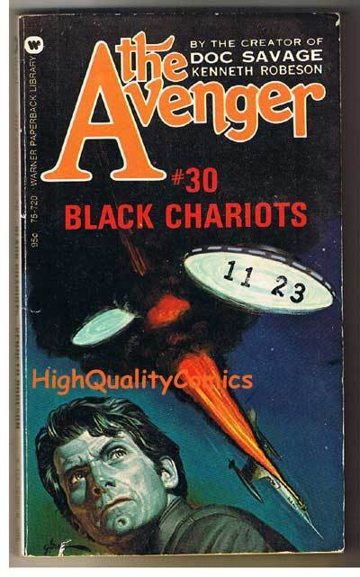 AVENGER 30, BLACK CHARIOT pb, VG, Ken Robeson, 1974, Unread, more in store