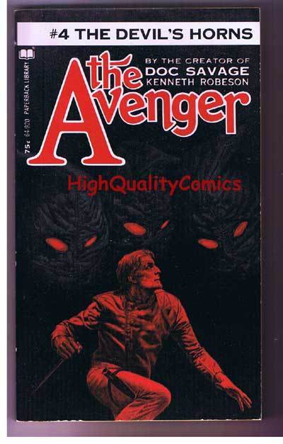 AVENGER 4, DEVIL'S HORNS pb, FN-, Ken Robeson, 1972, Unread, more in store