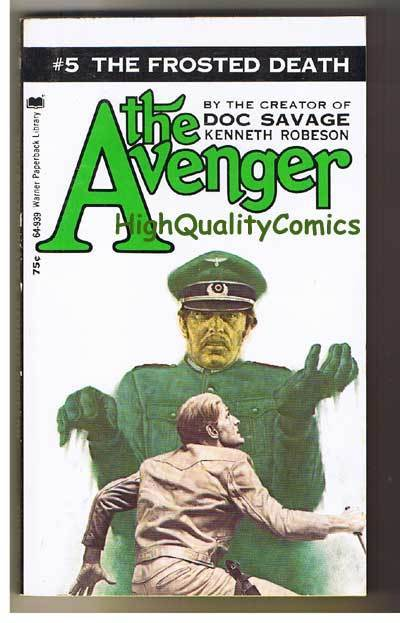 AVENGER 5, FROSTED DEATH pb, FN-, Ken Robeson, 1972, Unread, more in store