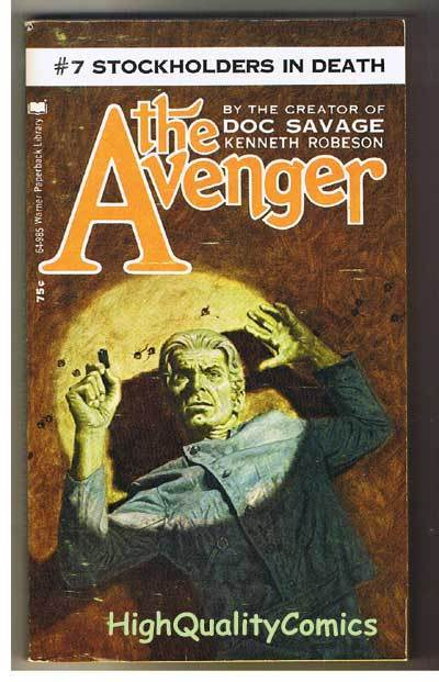 AVENGER 7, STOCKHOLDERS... pb, VG+, Ken Robeson, 1972, Unread, more in store
