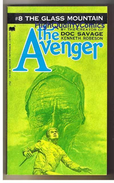 AVENGER 8,GLASS MOUNTAIN pb, FN-, Ken Robeson, 1973, Unread, more in store