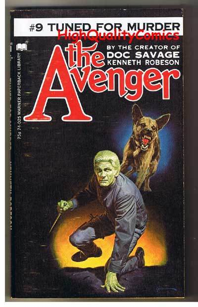 AVENGER 9, TUNED FOR MURDER pb, VG+, Ken Robeson, 1972, Unread, more in store
