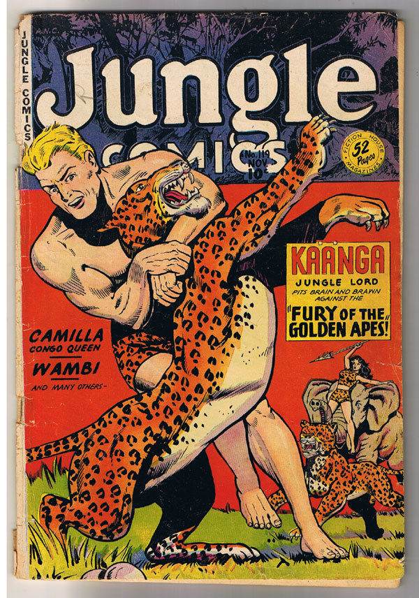 JUNGLE COMICS #119, GD+, Kaanga, Tabu, Simba, Wambi, 1940, Golden Age,Pre-code