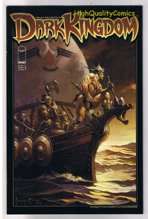 Frank Frazetta : DARK KINGDOM #4, Tim Vigil, 2008, NM-, more Frazetta in store