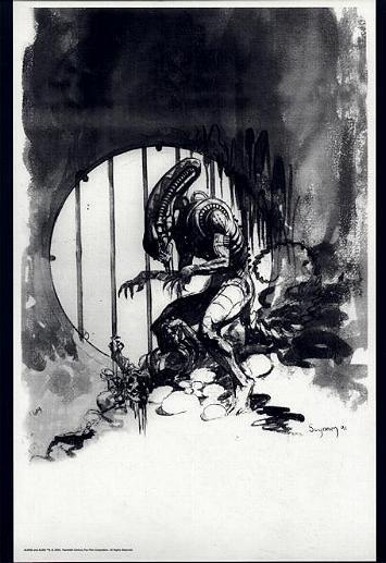 ARTHUR SUYDAM, ALIEN  print, Bars, Sewer, Aliens, B&W,  Horror, 11