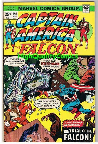 CAPTAIN AMERICA #191, FN, Stilt-Man, Trial of Falcon, 1968, Bill Mantlo