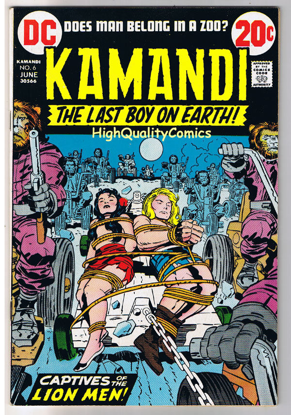 KAMANDI #6, VF/NM, Jack Kirby, Last Boy on Earth, 1972, more JK in store