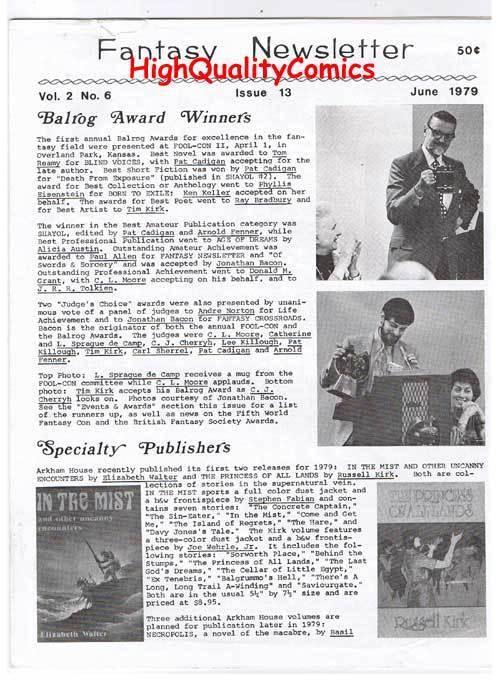 FANTASY NEWSLETTER, Vol 2 #6 (#13), VF, June 1979, Rare