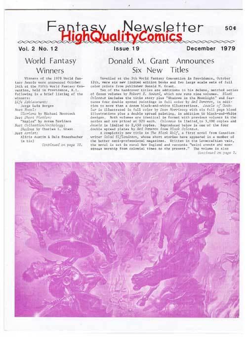 FANTASY NEWSLETTER,Vol 2 #12 (#19), NM, Dec 1979, Rare