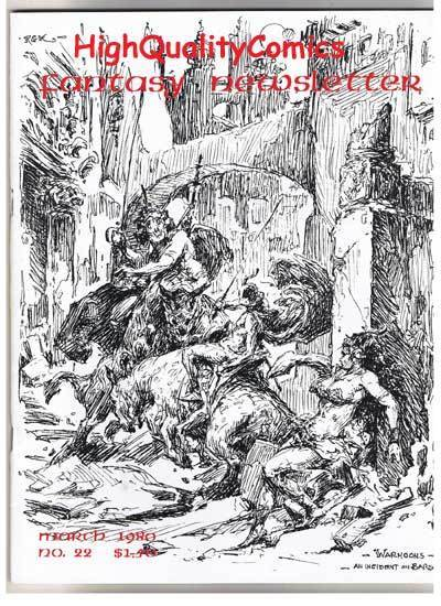 FANTASY NEWSLETTER,Vol 3 #3 (#22), NM, March 1980, Rare