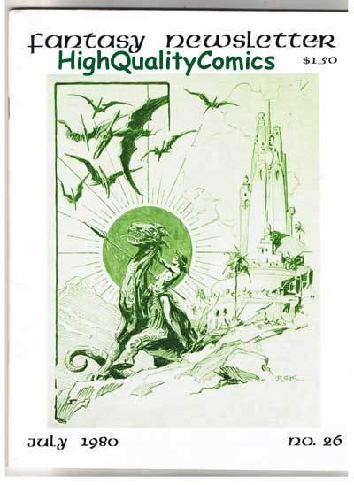 FANTASY NEWSLETTER,Vol 3 #7 (#26), VF/NM, July 1980, Rare