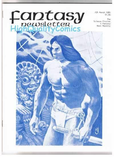 FANTASY NEWSLETTER,Vol 4 #3 (#34), VF/NM, Mar 1981,Rare