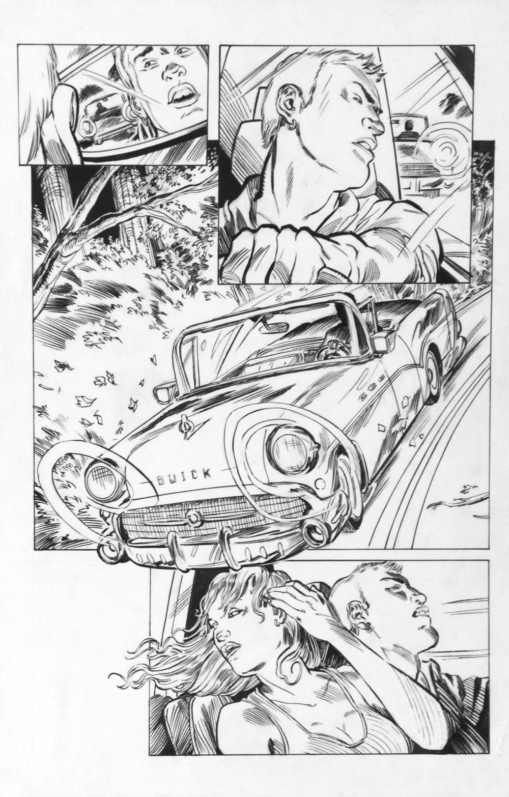 DEAN KOTZ Original Published Art, TRAILER PARK of TERROR #5 page 16, Zombies
