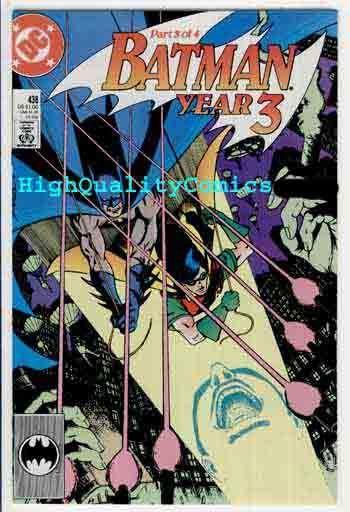 BATMAN #438, NM, Wolfman,Year 3, Tim Drake,Robin,1989, more Batman in store