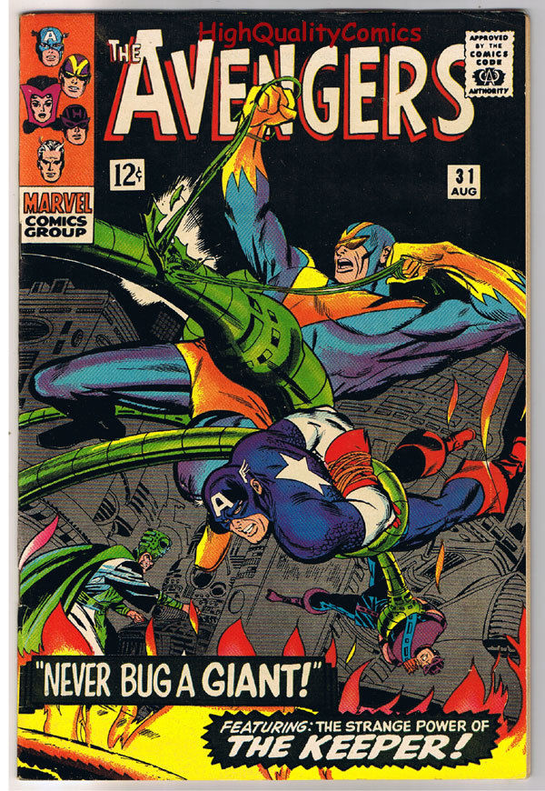 AVENGERS 31, VF, Captain America, Goliath, Don Heck,1963, more in store