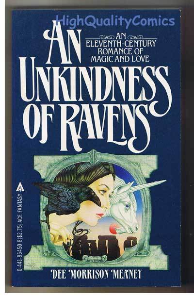 AN UNKINDNESS OF RAVENS pb, FN, Dee Meaney, 1983, Unread, more pb's in store