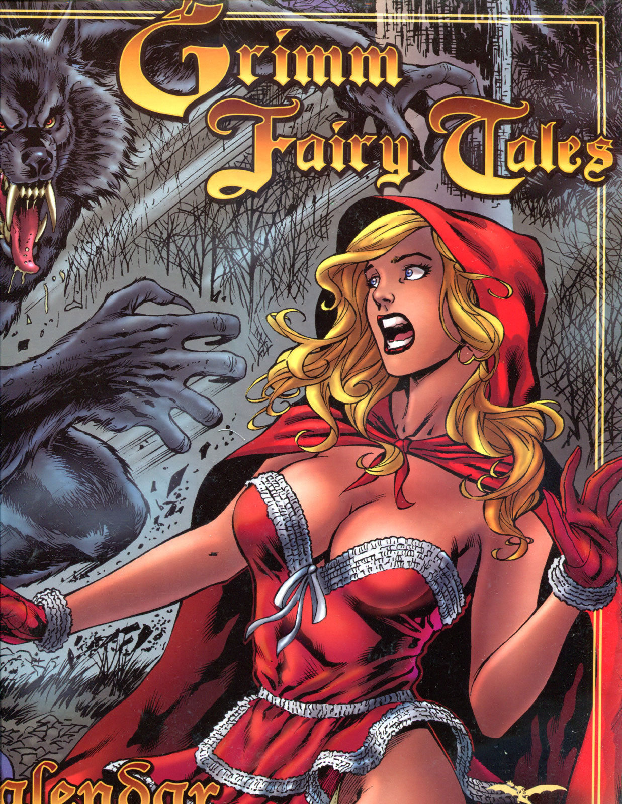 GRIMM FAIRY TALES CALENDAR 2007, NM+, Riding Hood, Wolf, more GFT's in store