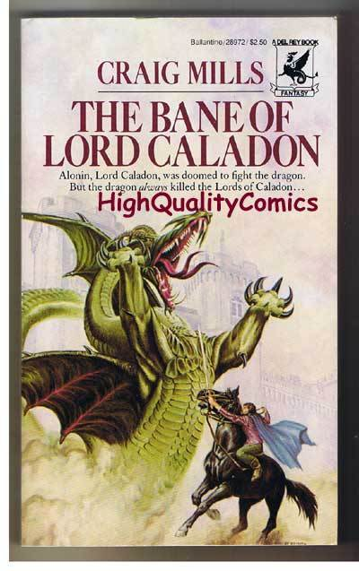 BANE OF LORD CALADON pb, FN, Craig Mills, Unread, 1982, 1st, more pb's in store