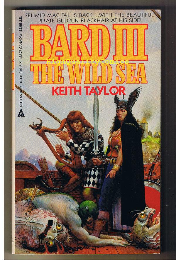 BARD III, WILD SEA pb, FN, Keith Taylor, 1986, Unread, 1st, more PB's in store