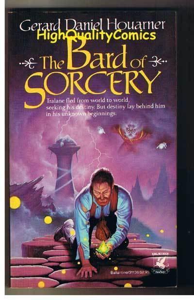 BARD OF SORCERY pb, Gerard Houarner, 1986, Unread, 1st, more pb's in store