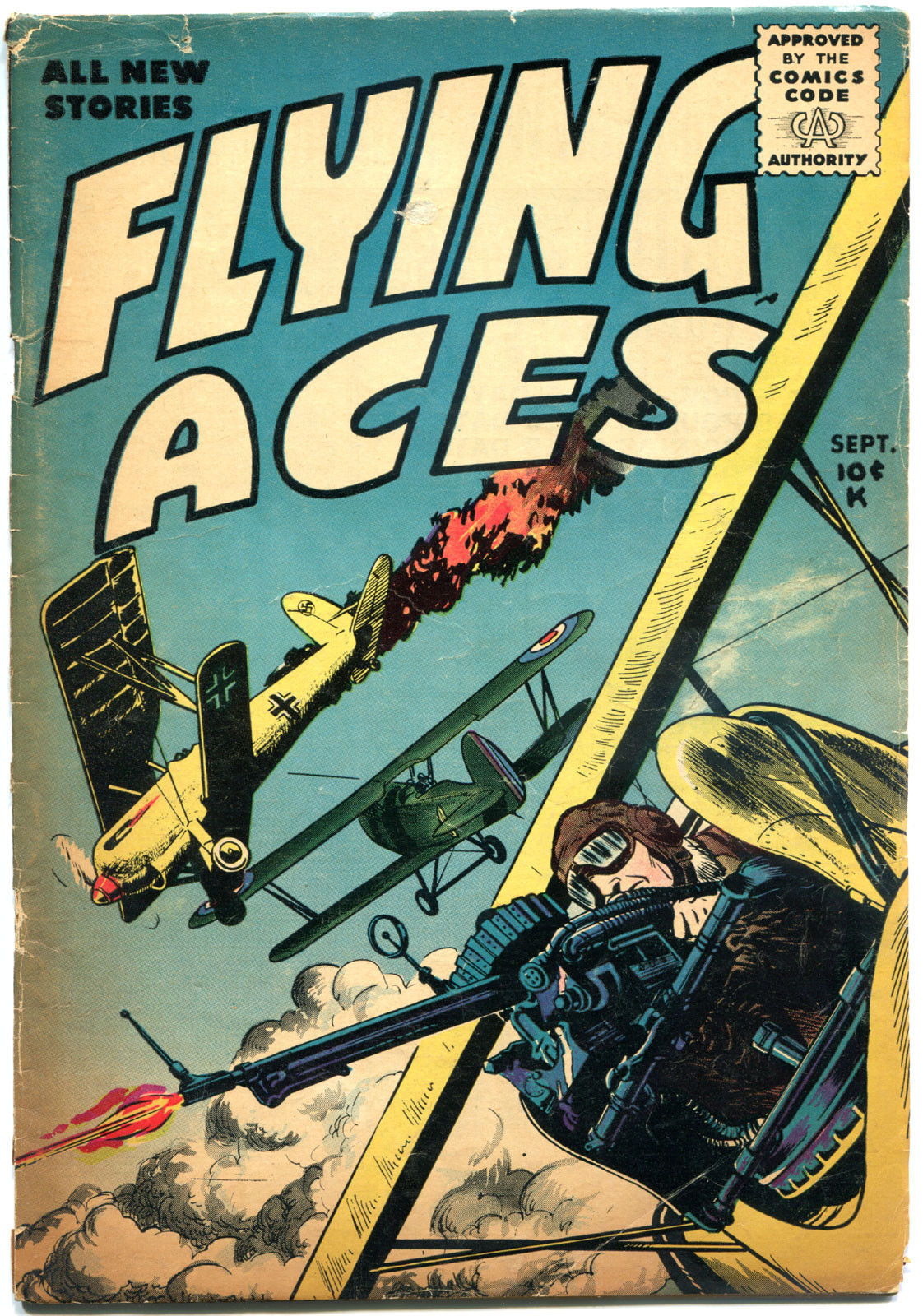FLYING ACES #2, VG-, 1955, Golden Age, Key, more GA and War in store