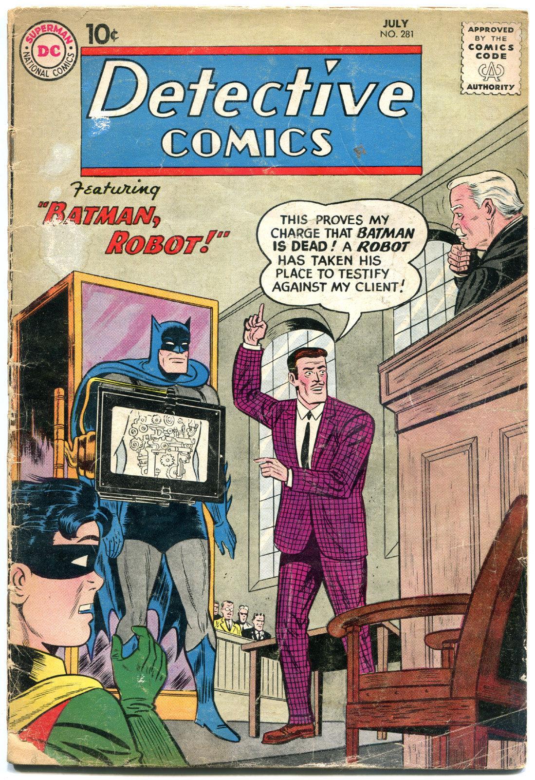 DETECTIVE COMICS #281, GD, Bob Kane, Caped Crusader, 1937 1960, more in store