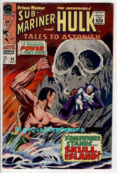 TALES To ASTONISH #96, VG to VG+, Sub-Mariner, Hulk, Skull, BillEverette, 1965