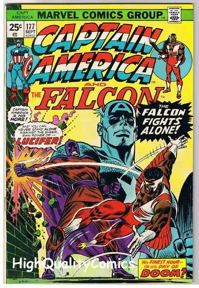 CAPTAIN AMERICA #177, VF, Falcon,Lucifer, Buscema, 1968, more CA in store