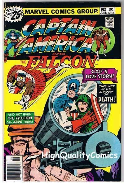 CAPTAIN AMERICA #198, VG+, Jack Kirby, Love Story, 1968, more CA in store