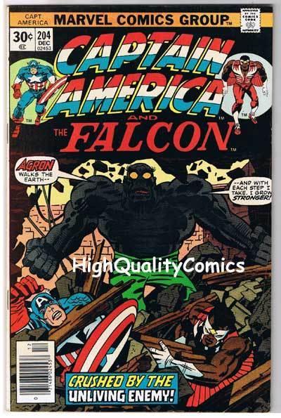 CAPTAIN AMERICA #204, VF-, Jack Kirby, Falcon, 1968, more CA in store