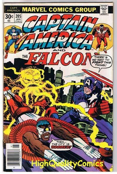 CAPTAIN AMERICA #205, VF, Jack Kirby, Falcon, 1968, more CA in store