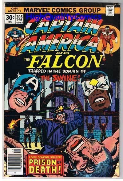 CAPTAIN AMERICA #206, VF+, Jack Kirby, Falcon, 1968, more CA in store