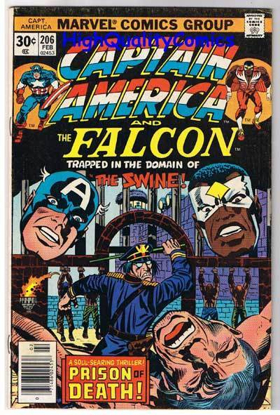 CAPTAIN AMERICA #206, VG+, Jack Kirby, Falcon, 1968, more CA in store