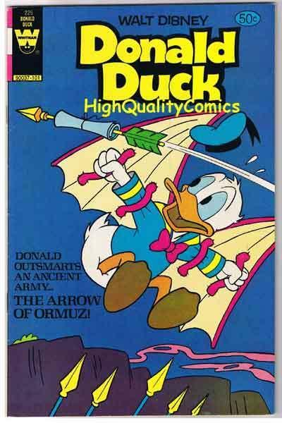 DONALD DUCK #225, VF, Disney, Whitman, 1980, more DD in store