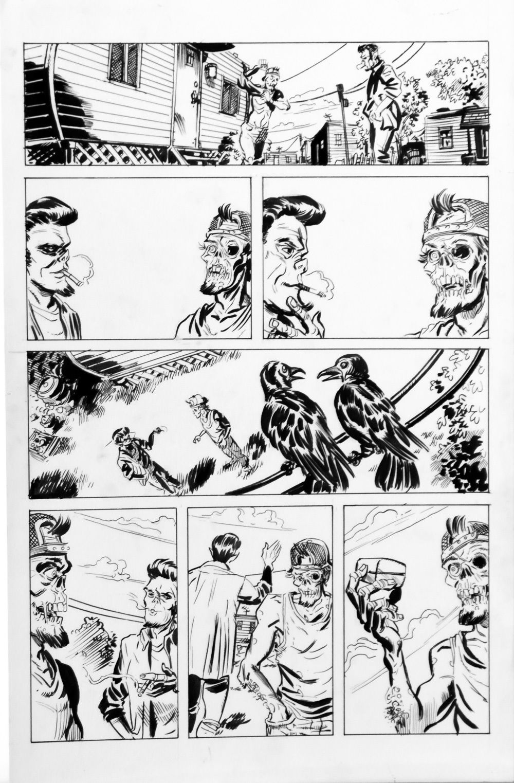 DEAN KOTZ Original Published Art, TRAILER PARK of TERROR #10 page 10, Zombies