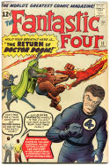 FANTASTIC FOUR #10, VF-, Doctor Doom, Jack Kirby, 1961 1963, more FF in store, QXT