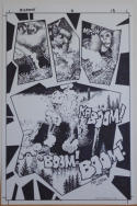 RICHARD CORBEN original art, BIG FOOT #1 pg 18, Signed, 11x17, Blown up, Boom