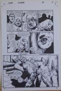 RICHARD CORBEN original art, ALIENS ALCHEMY #3 pg 6, Signed, 11x17, Stabbed