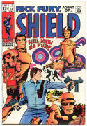 NICK FURY, AGENT of SHIELD #12 14 16, FN, Barry Smith. Kirby, 1968, Silver age