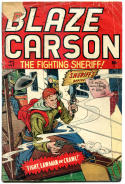BLAZE CARSON #1, Fair/Good, 1948, Golden Age, Western, Fighting Sheriff
