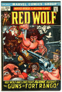RED WOLF #1 and #8, FN, Western, Gunfights, Lobo, Indian avenger, 1972