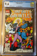 INFINITY GAUNTLET #6, CGC = 9.6, NM+, Thanos, Avengers, 1991, more in store