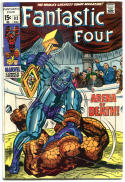 FANTASTIC FOUR #93, VG, Thing vs Torgo, Jack Kirby, 1961, more in store